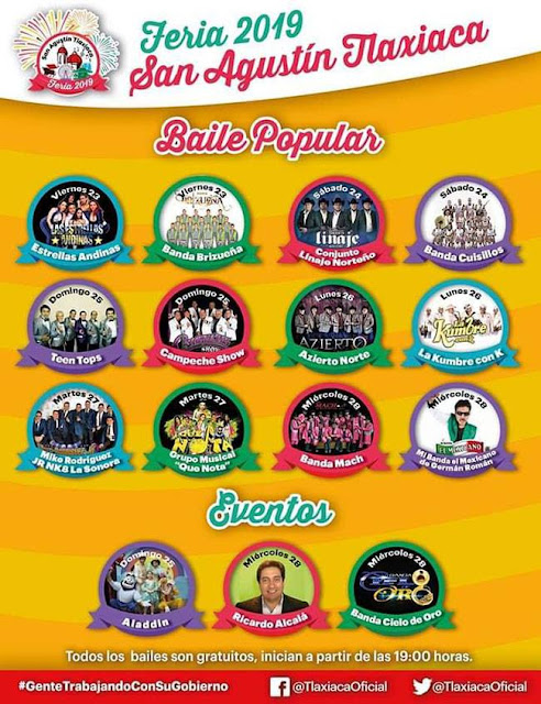 bailes feria san agustín tlaxiaca 2019