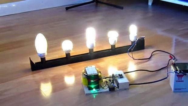 Rangkaian Inverter 12 Volt DC Jadi 220 Volt AC Sederhana 1000 Watt
