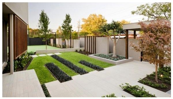diseÑo de jardines modernos : decoración del hogar, diseño de