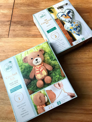REVIEW : Creative Crafting from Aldi  - crochet kit make your own bear - 3D cross-stitch kit hearts