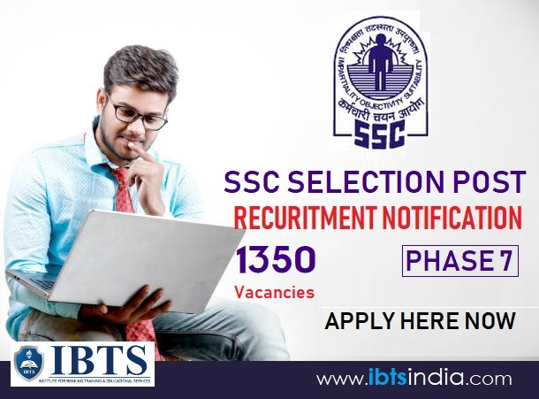 SSC Selection Post Phase 7 Recruitment 2019 1350 Vacancies (Apply Now)