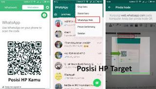 Scan kode batang QR dengan hp, scan barcode whatsapp