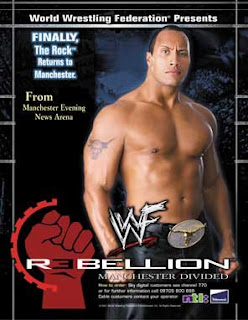 WWE / WWF Rebellion 2001 - Event poster