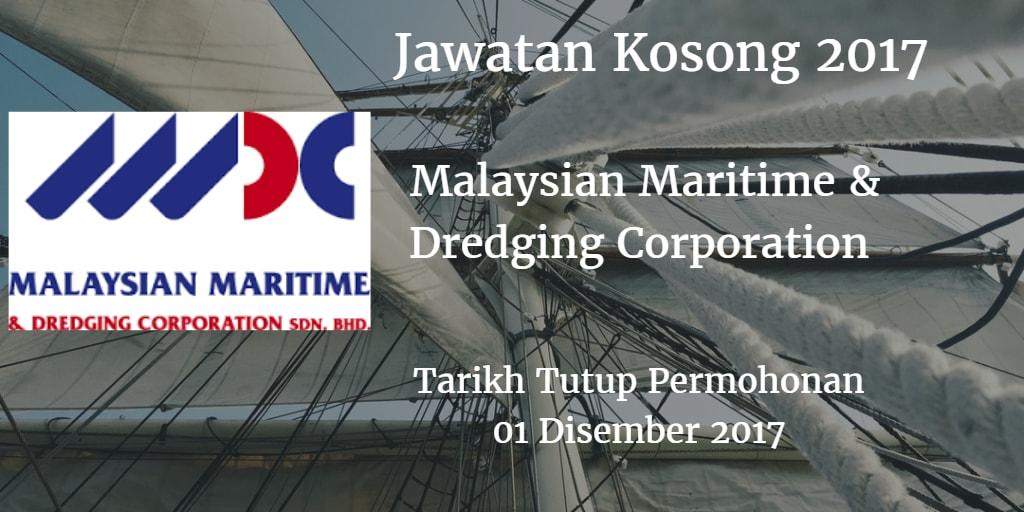 Jawatan Kosong Malaysian Maritime & Dredging Corporation 01 Disember 2017