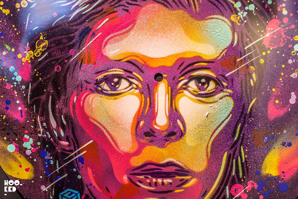 David Bowie Stencil Portrait by street artist C215