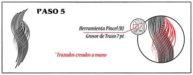 Tutorial en español de Adobe Illustrator para Crear Cabello Estilizado Paso 05