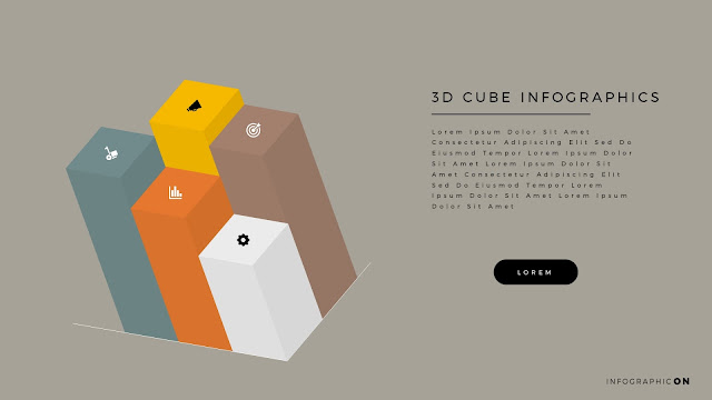 3D CUBE Infographic Elements for PowerPoint Slide 9