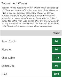 Kambi - King of the Ring 2019 Winner Odds