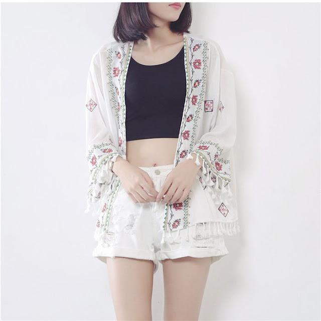 Ao kimono hoa M318