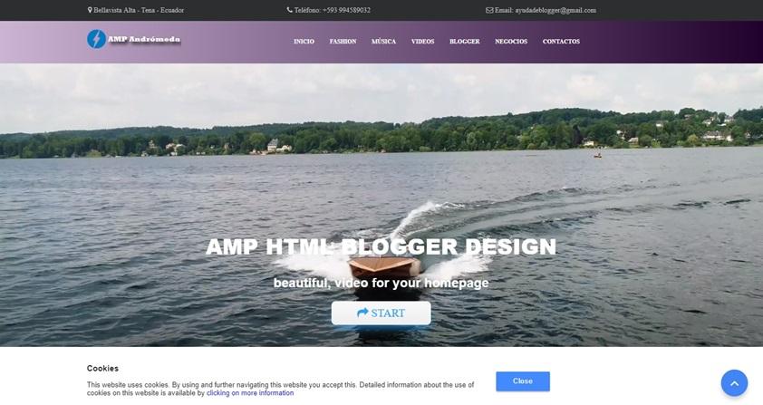 Amp Andromeda - Premium Amp HTML Blogger template