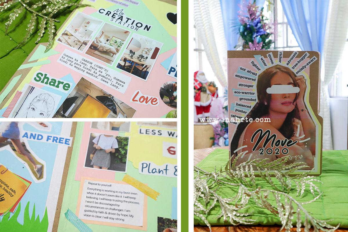 INAHRTE creative pastel vision board | 2020 vision