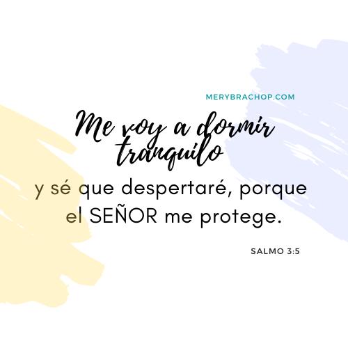 imagen versiculo cita biblica dormir tranquilo salmo 3