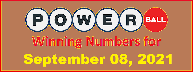 PowerBall Winning Numbers for Wednesday, September 08, 2021