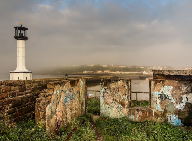 Photo of grafitti in an old building by Maryport lighthouse