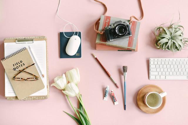 Jenna Kutcher desk and office photography