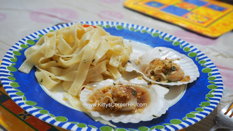 Scallops with Pasta 香蒜橄欖油扇貝扁麵 自家食譜 home cooking recipes
