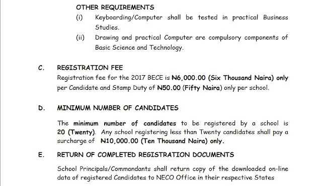 GUIDELINES FOR THE 2017 BASIC EDUCATION CERTIFICATE  EXAMINATION (BECE) REGISTRATION, xpino media network, xpino scholars