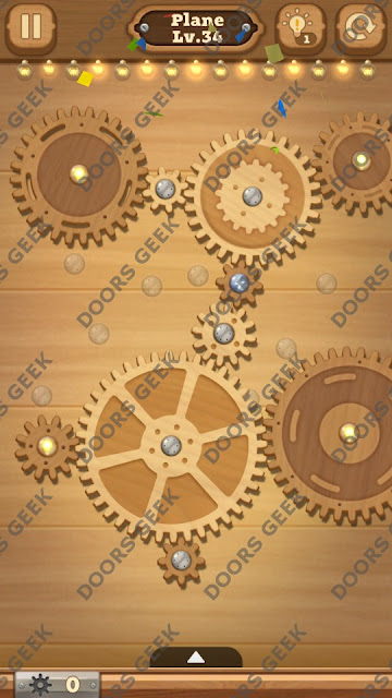 Fix it: Gear Puzzle [Plane] Level 34 Solution, Cheats, Walkthrough for Android, iPhone, iPad and iPod