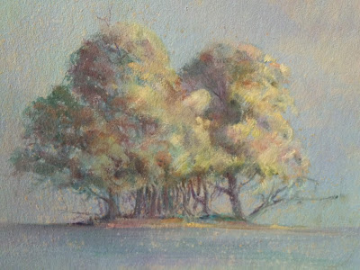 Image of painting of trees by Francis Quirk