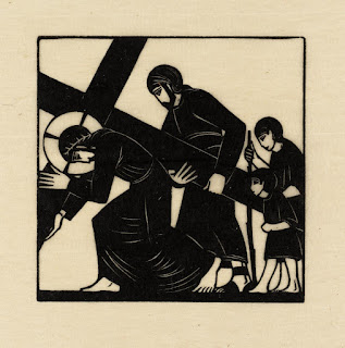 Eric Gill, Simon of Cyrene Helps Jesus to Carry the Cross, 1917, photo (C) Tate