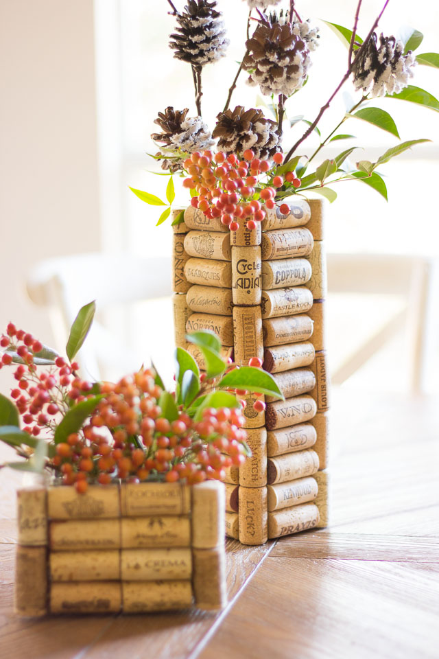 Thrifty Diy Wine Cork Vases Design Improvised