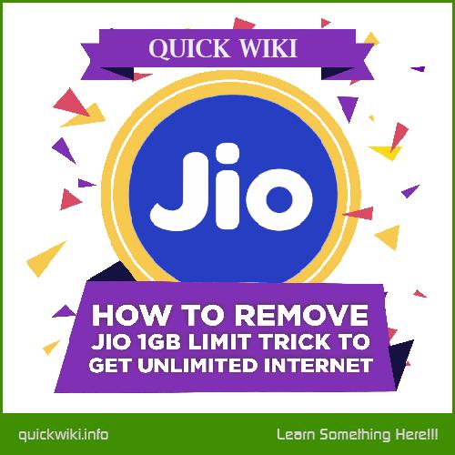 Jio Internet Trick