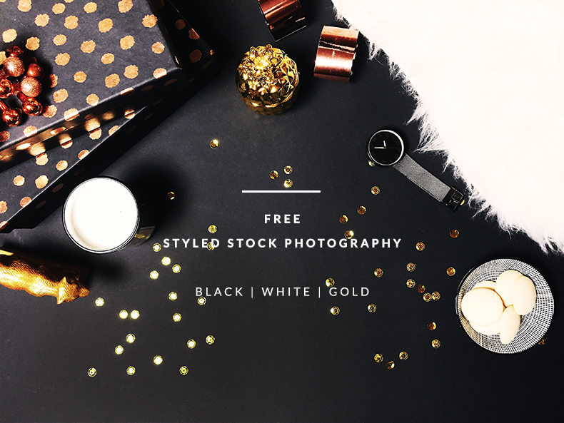 FREEBIES | Free Styled Stock Photography | Black, white and gold Styled Desktop | Darmowe zdjęcie stockowe | Gold and Berry blog goldandberry