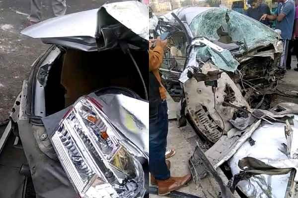 faridabad-nhpc-metro-chowk-car-accident-three-person-death-news