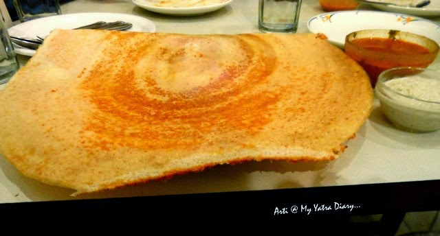Dosa at Vaishali Restaurant in Pune, Maharashtra