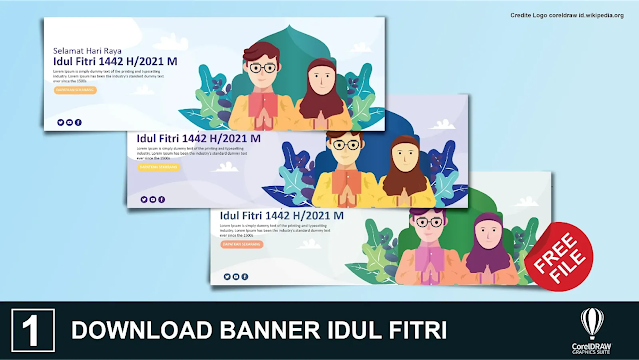 Download Spanduk Idul Fitri 1442 Gratis