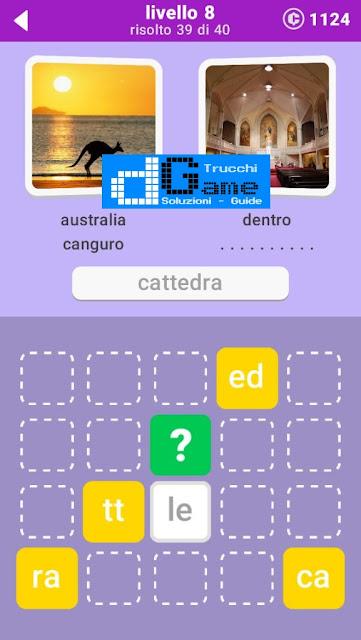 680 Parole soluzione pacchetto 8 livelli (1-20)
