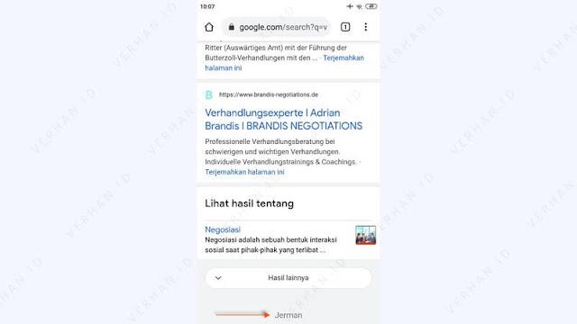 hasil ubah negara google chrome
