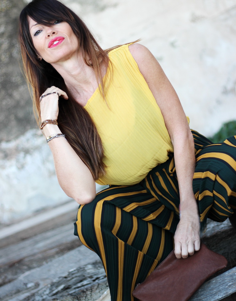 Zaful - Maria Mainez - Blogger - Tendencias - Otoño 2017 - Culotte Rayas