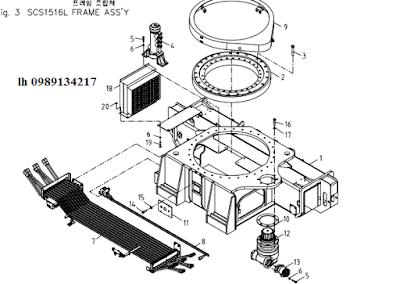 Quay toa- khung bệ của Cẩu soosan 15 tấn SCS1516-SCS1616