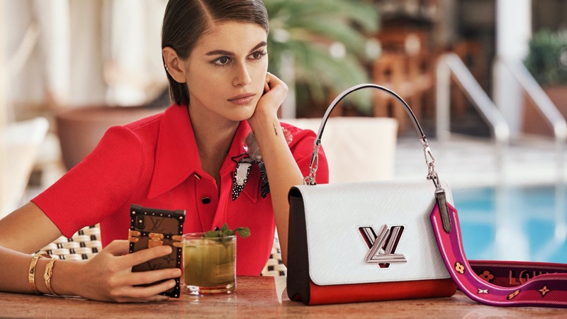 Kaia Gerber Charms in Louis Vuitton 'Twist' Spring 2020 Campaign