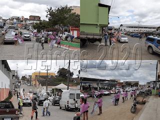 Candidato fazem bandeiraço  no sabado politico de Itiruçu
