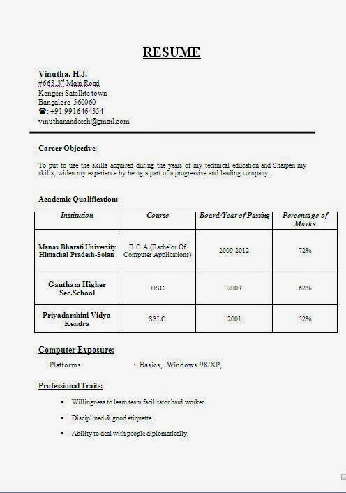 Resume And Cv Samples  Bpo Resume Templates Free Word Pdf