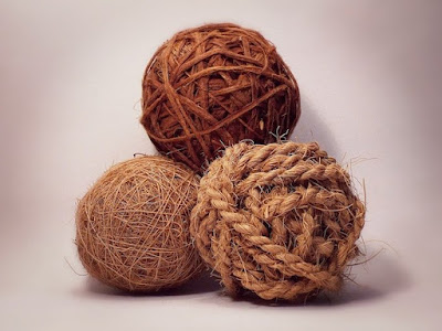 Three balls of twine