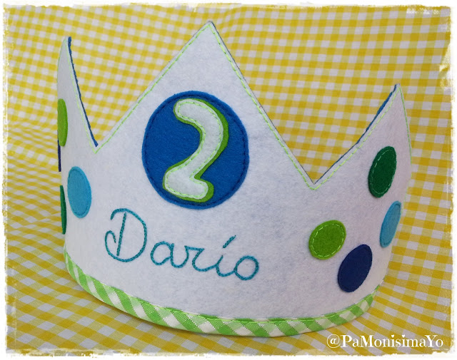 corona cumpleaños darío @pamonisimayo