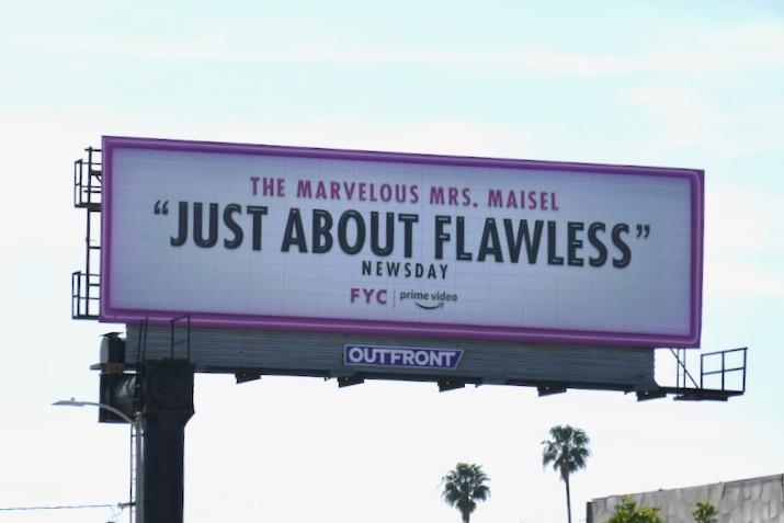 Mrs Maisel season 3 Just about flawless FYC billboard