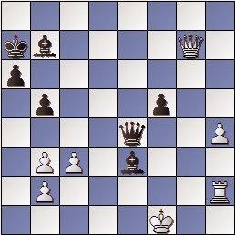 Posición de la partidad de ajedrez Tal - Massó en unas simultáneas dadas por Tal
