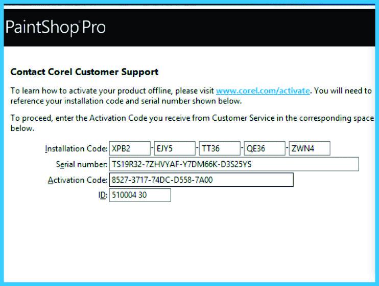 corel paintshop pro serial key