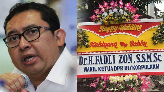 Fadli Zon dan Karangan Bunga Untuk Kahiyang dan Bobby