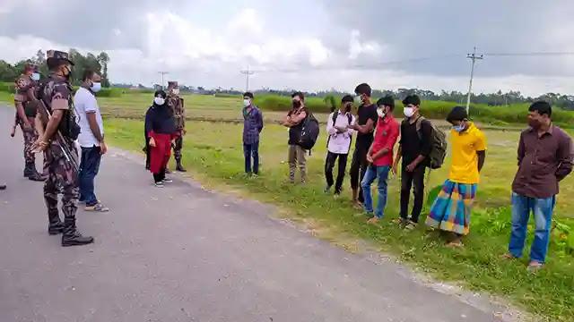 কঠোর বিধিনিষেধ বাস্তবায়নে কঠোর অবস্থানে বকশীগঞ্জ উপজেলা প্রশাসন