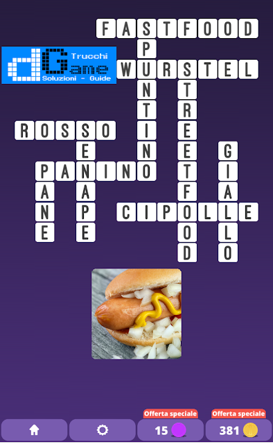 Soluzioni One Clue Crossword livello 1 schema15 (Cruciverba illustrato)  | Parole e foto