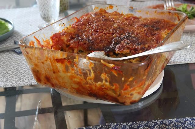 Cuillère et saladier : Lasagnes aux courgettes (vegan)