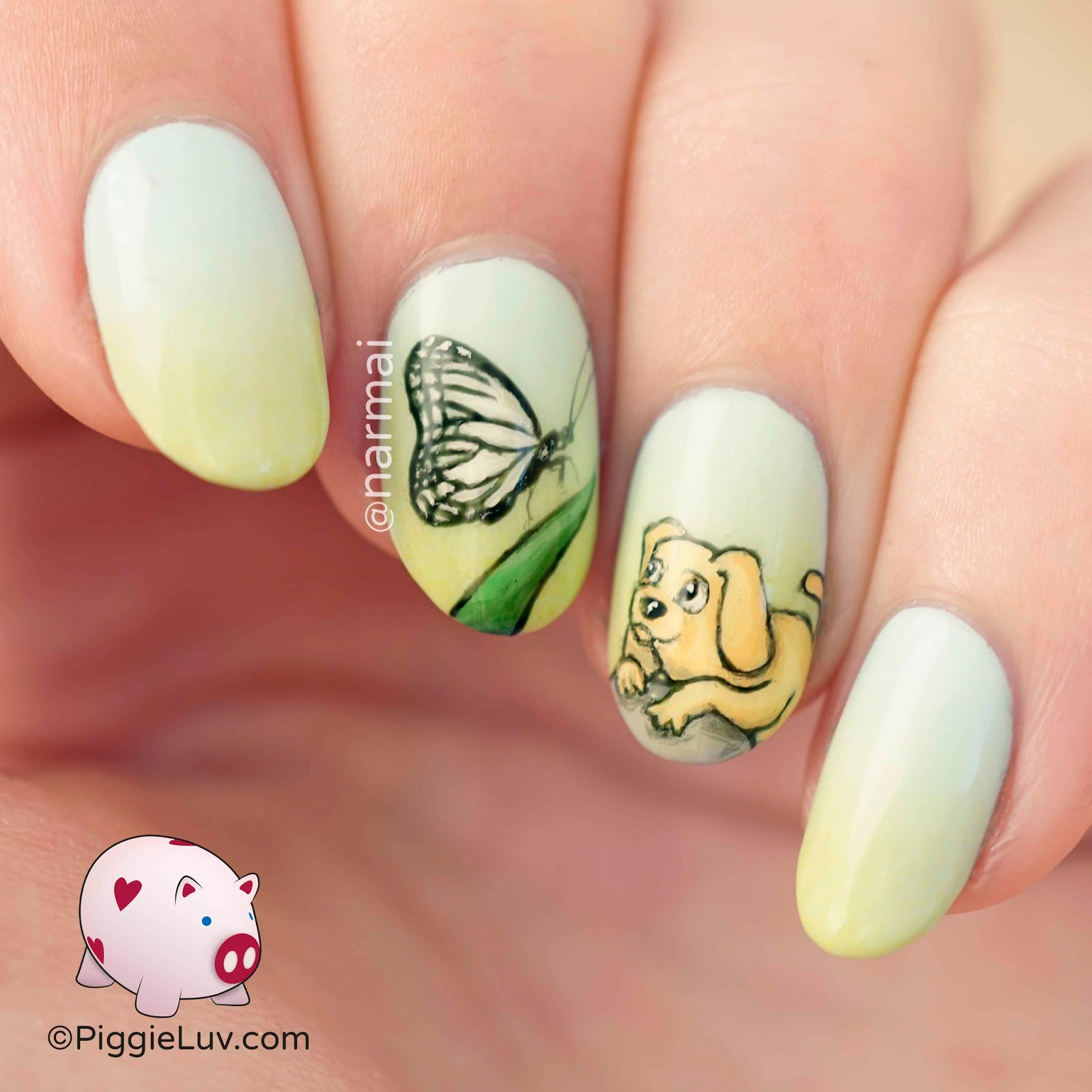 Piggieluv Puppys Day Out Nail Art