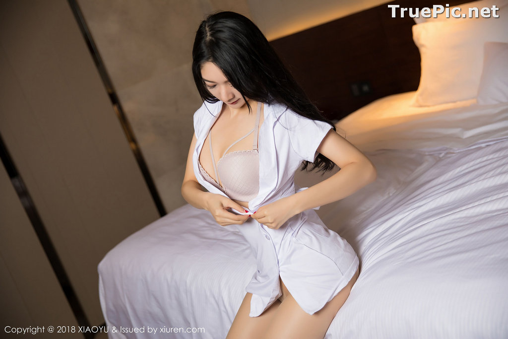 Image XiaoYu No.004 - Chinese Model - Xiao Reba (Angela喜欢猫) - White Sexy Nurse - TruePic.net - Picture-28