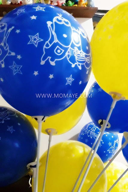 Despicable Me, latex balloons, Minions, DIY