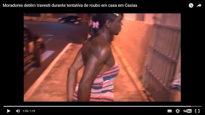 POLÍCIA: Moradores detêm travesti durante tentativa de roubo em casa em Caxias